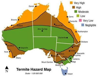 Termite risk map for Australia